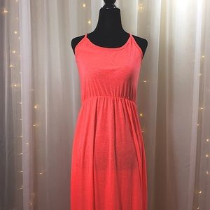 Peach Long Maxi Dress